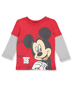 "Mickey Mouse Clubhouse Little Boys' Toddler ""28 Contrast"" L/S Slider (Sizes 2T – 4T) - CookiesKids.com"
