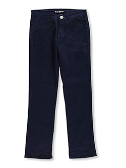 "Pink Batte Girls' ""Lilou"" Straight Fit Pants (Junior Sizes 1 – 15) - CookiesKids.com"