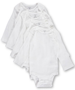 Carter's Baby Unisex 5-Pack Basic L/S Bodysuits - CookiesKids.com