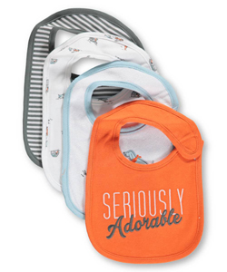 "Carter's Baby Girls' ""Summer Dogs"" 4-Pack Bibs - CookiesKids.com"
