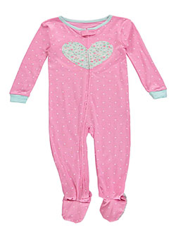 "Carter's Baby Girls' ""Dots & Heart"" Footed Coverall - CookiesKids.com"