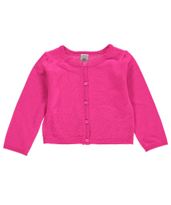 "Carter's Baby Girls' ""Clover Perforated"" Cardigan - CookiesKids.com"