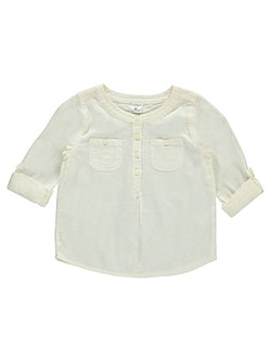 "Carter's Little Girls' Toddler ""Nibbed Cotton"" L/S Tunic (Sizes 2T – 4T) - CookiesKids.com"
