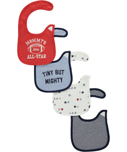 "Carter's Baby Boys' ""Mommy's Little All-Star"" 4-Pack Bibs - CookiesKids.com"