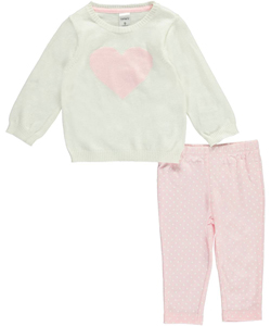 "Carter's Baby Girls' ""Big Heart"" 2-Piece Outfit - CookiesKids.com"