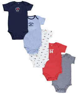 "Carter's Baby Boys' ""Tiny but Mighty"" 5-Pack Bodysuits - CookiesKids.com"