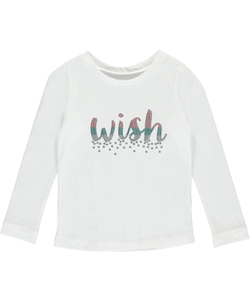 "Carter's Little Girls' ""Sequin Wish"" L/S Top (Sizes 4 – 6X) - CookiesKids.com"
