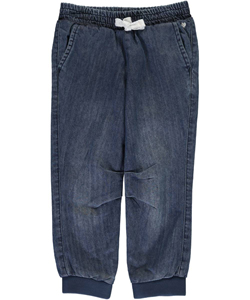 "Carter's Little Girls' ""Sparkle Tie"" Jogger Jeans (Sizes 4 – 6X) - CookiesKids.com"