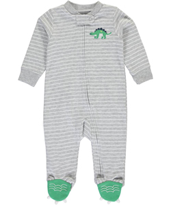 "Carter's Baby Boys' ""Dinosaur Spikes"" Footed Coverall - CookiesKids.com"