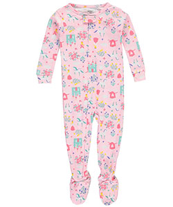 "Carter's Baby Girls' ""Unicorn Castle"" Footed Pajamas - CookiesKids.com"