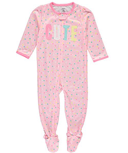 "Carter's Baby Girls' ""Cute Dreams"" Footed Pajamas - CookiesKids.com"