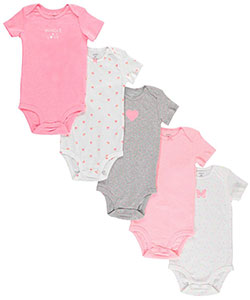 "Carter's Baby Girls' ""Bundle of Love"" 5-Pack Bodysuits - CookiesKids.com"