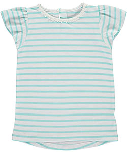"Carter's Little Girls' Toddler ""Flower Neckline – Solid"" Top (Sizes 2T – 4T) - CookiesKids.com"