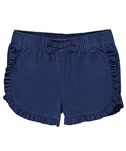 "Carter's Little Girls' Toddler ""Ruffle Dolphin – Twill"" Short Shorts (Sizes 2T – 4T) - CookiesKids.com"