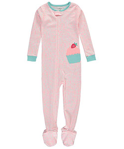 "Carter's Little Girls' Toddler ""Strawberry Cupcake"" Footed Pajamas (Sizes 2T – 5T) - CookiesKids.com"