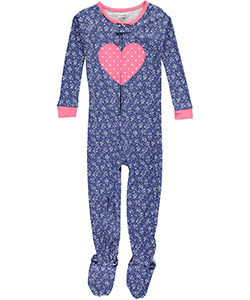 "Carter's Little Girls' Toddler ""Heart Bouquet"" Footed Pajamas (Sizes 2T – 5T) - CookiesKids.com"