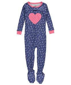"Carter's Baby Girls' ""Heart Bouquet"" Footed Pajamas - CookiesKids.com"