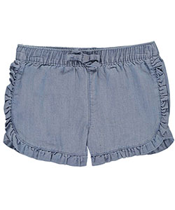 "Carter's Baby Girls' ""Ruffle Dolphin – Chambray"" Short Shorts - CookiesKids.com"