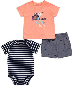 "Carter's Baby Boys' ""Local Cutie on Duty"" 3-Piece Outfit - CookiesKids.com"