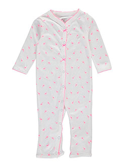 "Carter's Baby Girls' ""Picot Flamingo"" Coverall - CookiesKids.com"