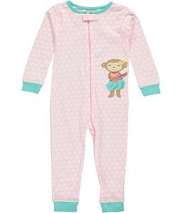 "Carter's Little Girls' Toddler ""Hula Dance"" 1-Piece Pajama Suit (Sizes 2T – 5T) - CookiesKids.com"