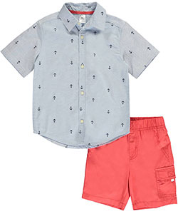 "Carter's Little Boys' Toddler ""Preppy Chambray"" 2-Piece Outfit (Sizes 2T – 4T) - CookiesKids.com"