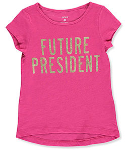 "Carter's Little Girls' Toddler ""Future President"" T-Shirt (Sizes 2T – 4T) - CookiesKids.com"