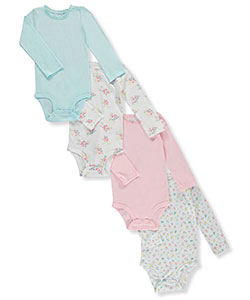 Carter's Baby Girls' 4-Pack L/S Bodysuits - CookiesKids.com