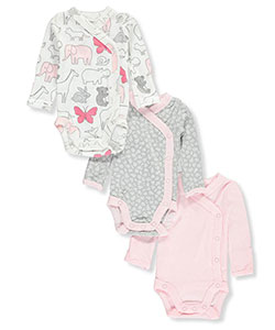 Carter's Baby Girls' 3-Pack Long-Sleeved Bodysuits - CookiesKids.com