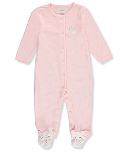 Carter's Baby Girls' Terry Footed Coverall - CookiesKids.com