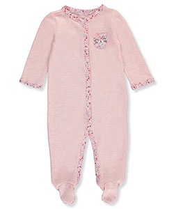 Carter's Baby Girls' Waffle Footed Coverall - CookiesKids.com