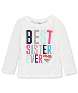 Carter's Little Girls' Toddler L/S T-Shirt (Sizes 2T – 4T) - CookiesKids.com