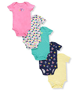 Carter's Baby Girls' 5-Pack S/S Bodysuits - CookiesKids.com