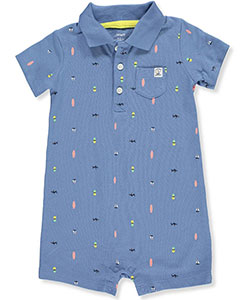 Carter's Baby Boys' Pique Polo Romper - CookiesKids.com