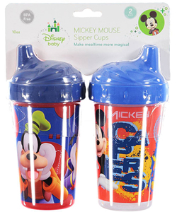 "Mickey Mouse ""Turning Gears"" 2-Pack Sipper Cups (10 oz.) - CookiesKids.com"