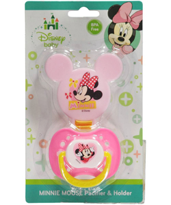 "Minnie Mouse ""Mini Minnie"" Pacifier & Clip Set - CookiesKids.com"