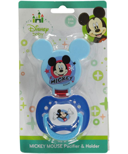 "Mickey Mouse ""Mini Mickey"" Pacifier & Clip Set - CookiesKids.com"