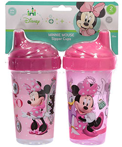 "Minnie Mouse ""Too Stylish"" 2-Pack Sipper Cups 10 oz. - CookiesKids.com"