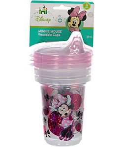 "Minnie Mouse ""Too Happy"" 3-Pack Reusable Cups 10 oz. - CookiesKids.com"
