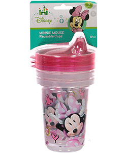 "Minnie Mouse ""Shy Minnie"" 3-Pack Reusable Cups 10 oz. - CookiesKids.com"