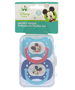 "Mickey Mouse ""Soft Touch"" 2-Pack Orthodontic Pacifier Set - CookiesKids.com"