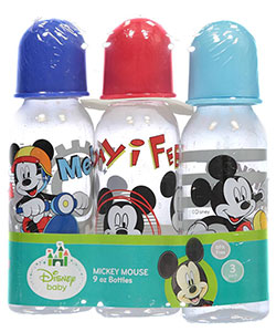 "Mickey Mouse ""Follow Me!"" 3-Pack Bottles (9 oz.) - CookiesKids.com"