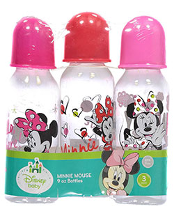 "Minnie Mouse ""Happy Girl"" 3-Pack Bottles (9 oz.) - CookiesKids.com"