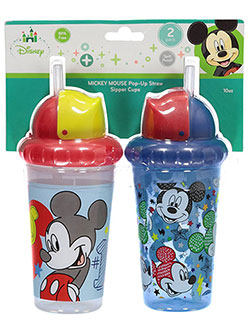 "Mickey Mouse ""Best Kid Ever"" 2-Pack Pop-Up Straw Sipper Cups (10 oz.) - CookiesKids.com"