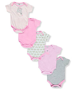 "Little Beginnings Baby Girls' ""Kitty Princess"" 5-Pack Bodysuits - CookiesKids.com"