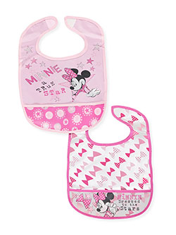 Minnie Mouse 2-Pack Bibs - CookiesKids.com