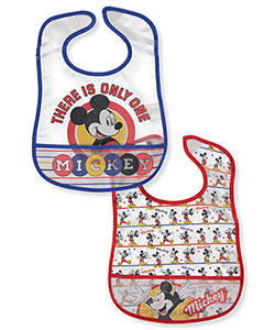 Mickey Mouse 2-Pack Bibs - CookiesKids.com