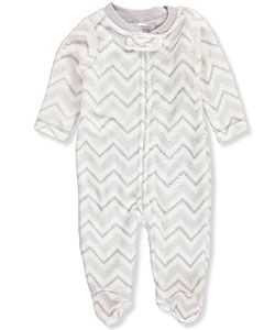 Little Beginnings Unisex Baby Plush Footed Coverall - CookiesKids.com