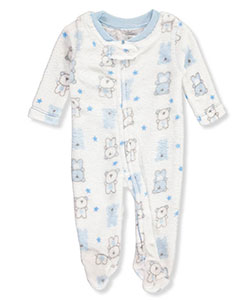 Little Beginnings Baby Boys' Plush Footed Coverall - CookiesKids.com