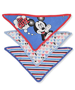 Disney Mickey Mouse Baby Boys' 3-Pack Bandana Bibs - CookiesKids.com